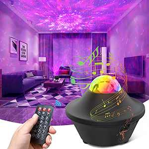 Galaxy Projector Star Projector Surround Scape with Bluetooth Music Speaker 21 Lighting Effects Night Light Projector with Bluetooth Music Speaker & Voice Control for Baby Kids Adults Gift/Bedroom