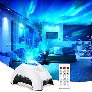 Suncanri LED Sky Projector for Bedroom Aurora Galaxy Star Night Light Projector with Bluetooth Music Speaker Timer Sleep-aid Sound Projector Lights Lamp for Ceiling Party Kids Children Birthday Gifts