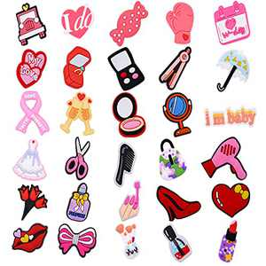 30pcs Shoe Charms Fits for Clog Sandals Decoration for Girls Women Mack-up Party Favors Birthday Gifts with Bracelet (30pcs)