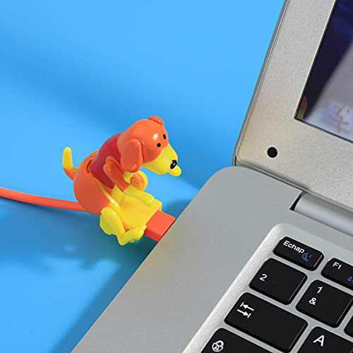 Stray Dog Charging Cable, Suitable USB Pet Kids Gift, USB Charging Cable for Various Models of Mobile Phones Type-C Portable (Orange)
