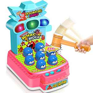 YVV Whack a Mole Game, Toddler Toys for 3 4 5 6 Years Old Toddler Early Learning Toy,Preschool Kids Easy Toys for Developing Words and Music Skills,5 Modes Interactive