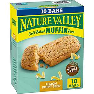 Nature Valley Soft-Baked Muffin Bars Lemon Poppy Seed, 12.4 oz, 10 ct