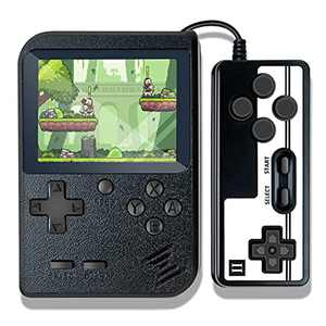 Retro Game Console, Handheld Game Console, Portable Game Player with 500 Classic Games, 3.0 Inch Screen 1020mAh Rechargeable Battery Support TV Connection & Two Players for Kids Adults (Black)