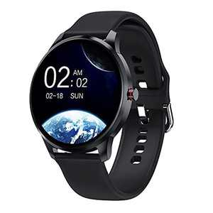 LIEBIG Smart Watch For Men, 1.3'' Full Touch Screen Fitness Watch with Blood Pressure Blood Oxygen Heart Rate Monitor IP68 Waterproof Activity Tracker 11 Sports Smart watches Pedometer for Android iOS