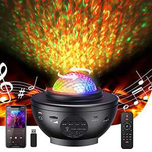 Star Projector, AutoYet2 Star Light Projector For Bedroom, Galaxy Light Projector With Bluetooth Music Speaker Can Project Star Light, Sky Lights For Bedroom For Baby Kids/Game Room/Party