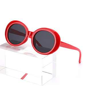 MuJaJa Clout Goggles Sunglasses Retro Oval Sunglasses Polarized Fashion Women Sunglasses UV400 Protection