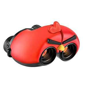 AVOSDER Real Binoculars for Kids Gifts for 3-12 Years Boys Girls 8x22 High-Resolution Optics Mini Compact Binocular Toys Shockproof Folding Small Telescope for Bird Watching, Travel, Camping (Red)