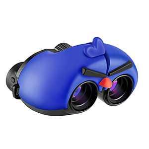 Binoculars for Kids, 8 x 22 Real Optics Mini Compact Kids Binoculars with Neck Strap - Waterproof Children's Binoculars for Spy Camping, Bird Watching - Telescope Toys for 3-12 Years Boys Girls (Blue)