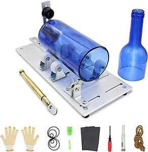 MadxfroG Glass Bottle Cutter, New Upgrade Glass Cutter for Bottles Bottle Cutter & Glass Cutter Kit with Precise Scale for Cutting Beer, Whiskey, Wine, Champagne, Ceramic, Semicircle/Round Bottles