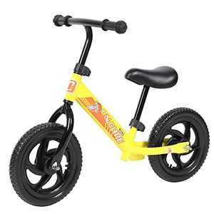 Kids Sport Balance Bikes Toddlers Pedalless Bike with Adjustable Seat for 3-6 Years, Surprised Birthday Toys Gifts Give Your Babys Boy of Girl No Pedals Indoor/Outdoor Bicycle Yellow
