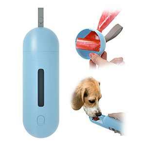EBANTON Portable Dog Water Bottle, Leak Proof Retractable Dog Water Bottle Dispenser, Lightweight Water Bottle For Dogs with Pet Poop Bag for Walking, Travel, Outdoor, Hiking, BPA Free (8.5 oz)