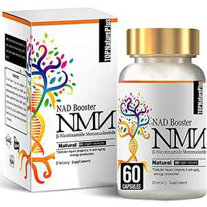 NMN Supplement, 500MG NMN Nicotinamide Mononucleotide Capsules for Supports Anti-Aging, Longevity and Energy, Naturally Boost NAD+ Levels(Like Riboside) - 60 Capsules