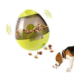 Dog Treat Ball, IQ Treat Dispensing Dog Toys, Interactive Food Puzzles Ball for Dogs, Pet Slow Feeder Ball