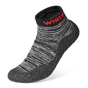 WHITIN Big Boys Girls Water Shoes Summer Outdoor Beach Swim Size 4 Barefoot Breathable Aqua Minimalist Sock for Kids Knit Grip StickyTrail Running Fitness Indoor Yoga Grey