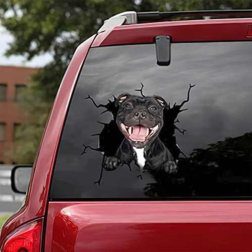 French Bulldog Crack Car Sticker Window Decal Sticker Pet Funny Puppy Lover Stickers Cars Crack Decal Trucks Vans (D)