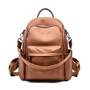 Kivipy Women Fashion Backpack Purse Multipurpose Designer Ladies Shoulder Bags PU Leather Travel bag (Yellow)