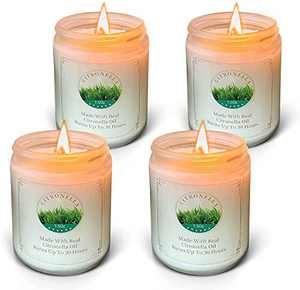 Large Citronella Candles Outdoor Indoor, 7.5 OZ Soy Wax Jar Candles Gift Set for Outdoor, Indoor, Travel, Garden, Camping