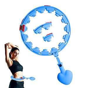Gardensea Smart Weight Loss Hoop,Adjustable Size,Detachable and Automatic Rotating Fitness hulas Circle.Exercise Hoops for Adults and Kids (Blue)