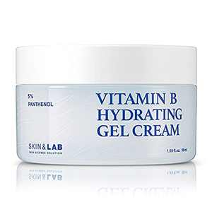 SKIN & LAB Vitamin B5 hydrating gel cream for Face with Hyaluronic Acid and Ceramide   Fast-Absorbing, Non-Greasy   Moisturizing Face Cream for Acne Prone, Sensitive Skin 50ml   1.69oz.