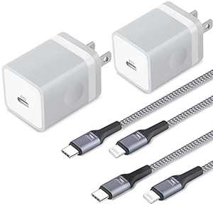 iPhone 12 Charger MFi Certified, TIKALONG 2-Pack Fast 20WPDUSB C Charger Block Wall Plug with 2 X 6FT Braided USB-C to Lightning Cable for iPhone 12 Pro Max Mini 11 XS XR X 8 Plus