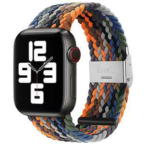 PROATL Adjustable Braided Solo Loop with Buckle Compatible With Apple Watch Band 42mm 44mm for Men and Women, Soft Wristband Stretch Nylon Elastic Strap for iWatch Series SE 6 5 4 3 2 1