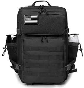 QT&QY Military Tactical Backpacks For Men Molle Daypack 45L Lage 3 Day Bug Out Bag Hiking Rucksack With Bottle Holder