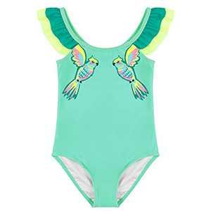 Maketina Toddler Baby Girls Swimsuit Ruffled Sleeveless Swimwear One Piece Cute Bathing Suits Green 12-18M