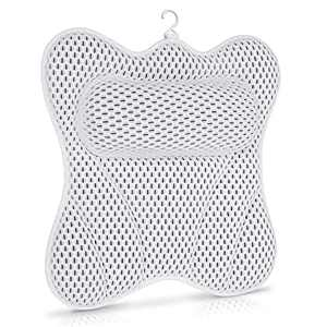 SVEUC Bath Pillow,Bathtub Pillow for Tub, 6D Air Mesh Spa Pillow with Head Neck Shoulder and Back Support,Comfortable Soft Luxury Bath Cushion with 6 Suction Cups,Fits All Bathtub,Hot Tub,Jacuzzi