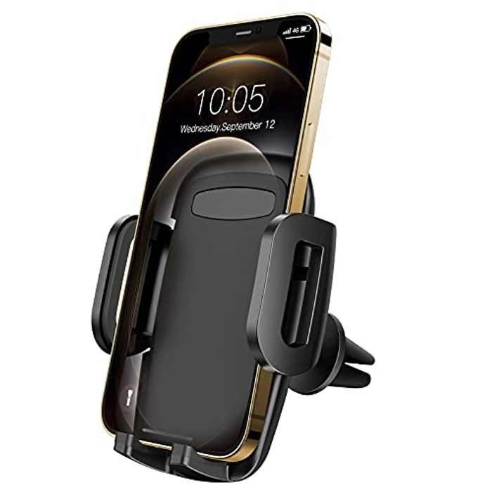 Car Phone Holder, Mobile Phone Holder for Car Air Vent, Upgraded Car Phone Mount, 360 Degree Rotation Car Cradle for iPhone 12 11/Pro Max/Pro/Mini/SE/XS Max/XS/XR/X/8/7/Galaxy S20/S10/S9/S8, etc