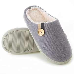 TMTYH Women's House Slippers Comfy Memory Foam Insole Bedroom Slippers for Women with Fluffy Plush Lined