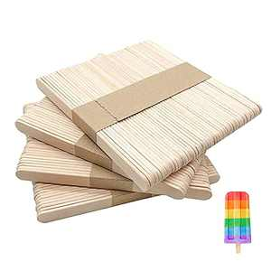 200 PCS Natural Wood Craft, Wooden Sticks, Jumbo Craft for Art, Waxing, Ice Cream, Popsicle Sticks, Waxing, Crafting, DIY Projects