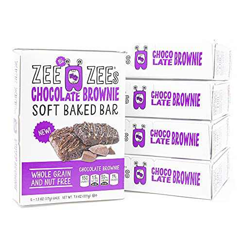 Zee Zees Chocolate Brownie Soft Baked Bars, Nut-Free, Whole Grain, Naturally Flavored, 1.3 oz, 30 Pack