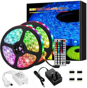 LED Strip Lights, 10M RGB Colour Changing LED Lights Strip ,with Remote Control and Control Box, Suitable for Bedroom, Living Room TV Kitchen Home Party