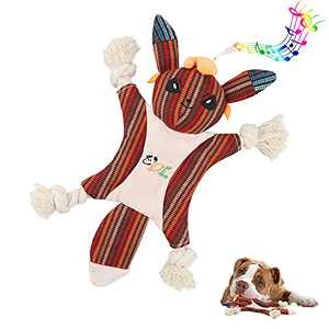Opariki Plush Dog Toy, Suitable for actively Chewing Large, Medium and Small Puppies Teething Chewing Toys, Stuffing-Free Squeaky Plush Dog Toys,