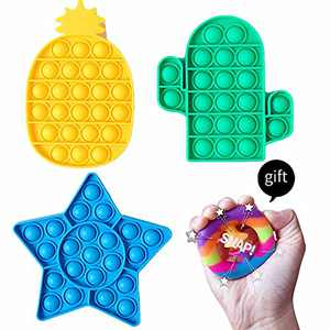 Warju Pop Cheap Toys 3 Pack with a Snap Toy Gift, Great for Kids and Adults