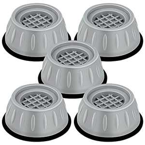 5pcs Washing Machine Pads, Shock and Noise Cancelling Washing Machine Support, Anti Slip Washing Machine Stabilizer Pads, Noise Reducing Anti Walk Rubber Feet Pads, Washer Dryer Pedestals