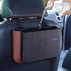 Car Trash Can, Foldable, Hanging, Portable Waterproof Trash Bag, Storage Bag, Storage Bag, Mini, Trash Can for Front and Rear Seat Accessories