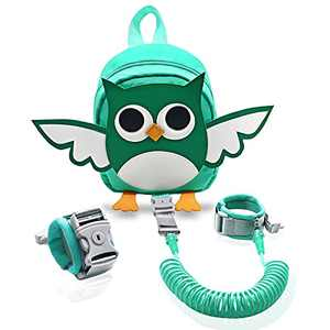 Backpack Leash for Toddlers Kid Harness Backpack with Leash 8.2 Feet Wrist Leash Child Cartoon Style Owl Design for Preschool Kids Excited to Wear