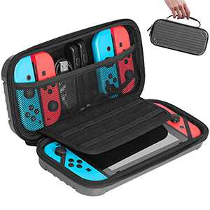 Carry Case for Nintendo Switch,TopMade [Shockproof] Hard Shell Protective Cover Travel Bag w/10 Game Card Slots,Deluxe Protective Travel Carry Case Pouch for Nintendo Switch Console & Accessories