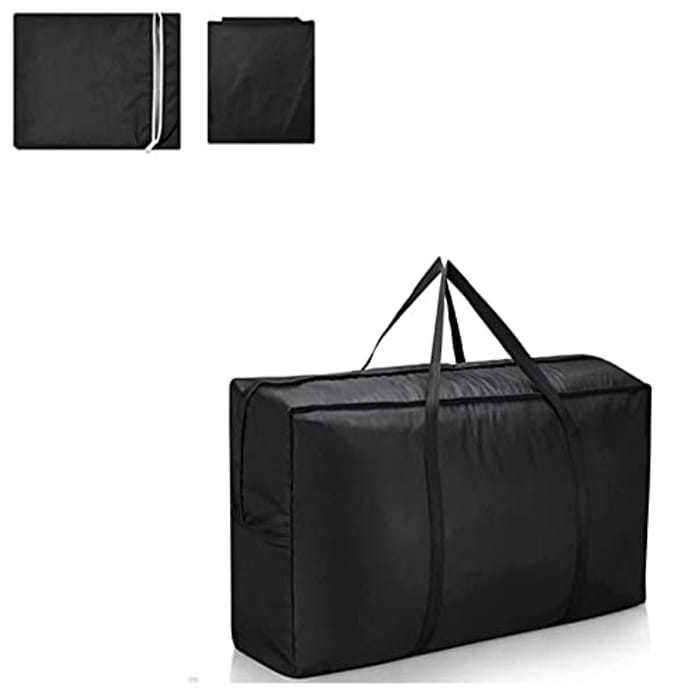 Suneech Garden Storage Bag,Heavy Duty Furniture Cushion Cover Bags Garden Storage Bag, Protective Cover For Outdoor Tent Bags, Waterproof Storage Bag With Carry Handle,173 x 76 x 51 cm (black)