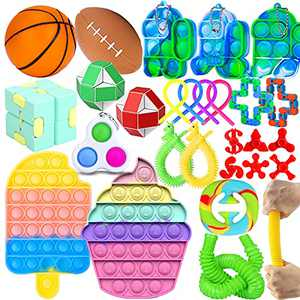 Fidget Toy Pack Pop Fidgets Toy Sets Fidget Toys Pack Stress Relief and Anti-Anxiety Tools Sensory Toys (28 Pack)