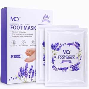 2 Pack Foot Peel Mask, Foot Exfoliator - Callus and Dead Skin Remover for Feet, Foot Care Mask for Dry Cracked Feet, Suitable for Men and Women (Lavender Scent)
