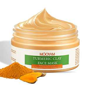 Turmeric Face Clay Masks Skincare Vitamin C Facial Clay Mask for Woman Skin Care with Kaolin Clay Turmeric Acne Face Mud Mask Hydrating Men Blackhead Remover Mask Deep Cleansing Refining Pores