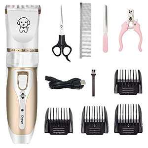 MISCYDER Electrical Pet Clipper Professional Grooming Kit Rechargeable Pet Cat Dog Hair Trimmer Shaver Cordless Set Animals Hair Cutting Machine