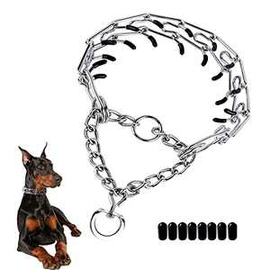 SonneMond Dog Prong Training Collar, Pinch Collar Choke Collar for All Dogs, Adjustable Dog Choker Collar with Stainless Steel & Extra Rubber Tips (23.6inch×4.0mm)