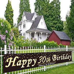 Yard Signs Happy Birthday Yard Birthday Signs Personalized Birthday Banner Party Decorations For Women Men 30th Birthday Backdrop