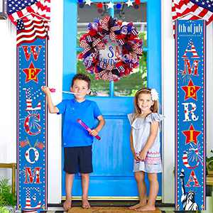 4th of July Decorations Outdoor Hanging American welcome Flag Banners