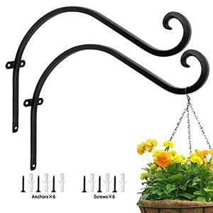 ZRiwlnly Hanging Plant Bracket for Plant Hangers Outdoor & Indoor, Heavy Duty Plant Hanger with Solid Carbon Steel, More Stable and Sturdy (15in-2PCs)