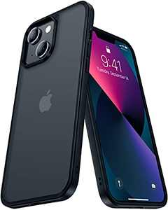 CASEKOO Frosted Designed for iPhone 13 Case Mil-Grade Protective Slim Fit Thin Phone Cases Anti-Fingerprint Anti-Scratch Matte Translucent Shockproof Cover 6.1 inch 2021 (Black)