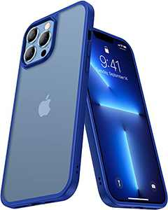 CASEKOO Frosted Designed for iPhone 13 Pro Max Case Mil-Grade Protective Slim Fit Thin Phone Cases Anti-Fingerprint Anti-Scratch Matte Translucent Shockproof Cover 6.7 inch 2021, Blue